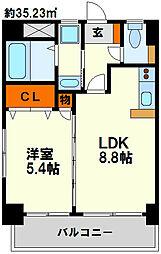 シティライフ博多駅南[8階]の間取り