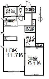 相生町新築シャーメゾン[101号室]の間取り