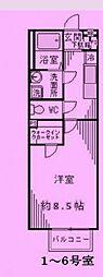 埼玉県川口市西青木の賃貸アパートの間取り