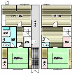[一戸建] 大阪府大阪狭山市池尻北2丁目 の賃貸【/】の間取り