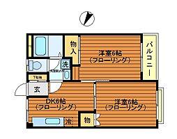 東京都三鷹市牟礼7丁目の賃貸マンションの間取り