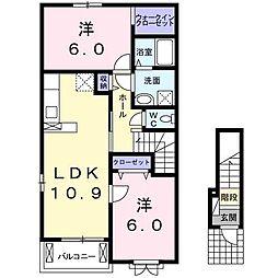サニーミニヨンハウスⅡ[2階]の間取り