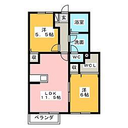サンパティーク B[1階]の間取り