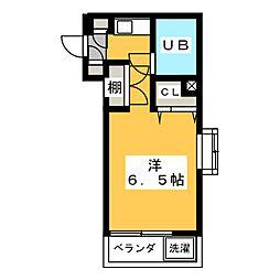メゾン・ド・ミュール[1階]の間取り