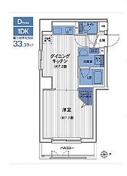 東京都港区芝5丁目の賃貸マンションの間取り