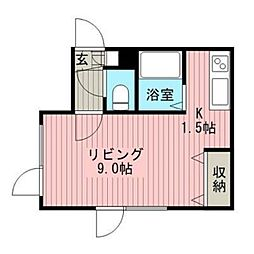 コトン文京台[4階]の間取り