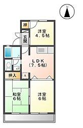 サンハイツII A[1階]の間取り