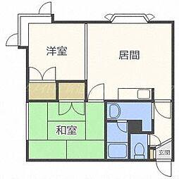 北海道札幌市東区北三十八条東21丁目の賃貸アパートの間取り