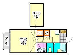 ダイワプラザ津田沼[203号室]の間取り