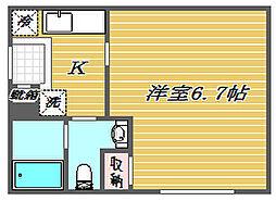 ミッドキューブ[1階]の間取り
