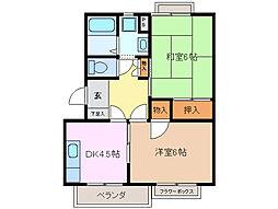 ファインハオス A棟[2階]の間取り