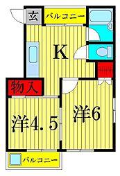 松本ビル[3階]の間取り