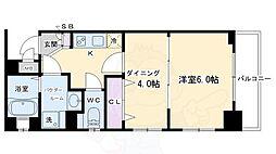 エステムプラザ京都ステーションレジデンシャル 2階1DKの間取り