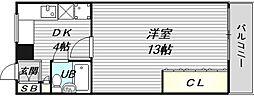 西長堀ガーデンハイツ[8階]の間取り