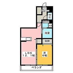 仮)アメニティー菖蒲沢アパート 2階1LDKの間取り