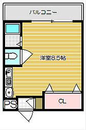 フェリセ富田[102号室]の間取り