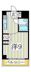 マンションニューシャイン[4階]の間取り