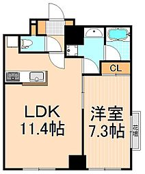 KDXレジデンス秋葉原[1階]の間取り
