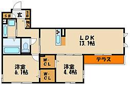 (仮称)大久保駅町八木D-room[2階]の間取り