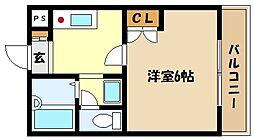 兵庫県神戸市東灘区御影石町2丁目の賃貸アパートの間取り