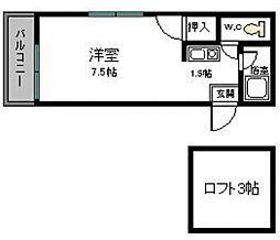shinotsuki(旧コーポとびうめ2)[1階]の間取り