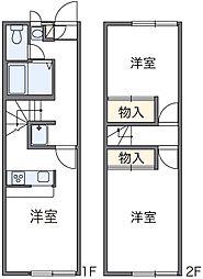 神奈川県相模原市緑区原宿4丁目の賃貸アパートの間取り