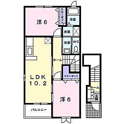 ローレル・フジイ[2階]の間取り