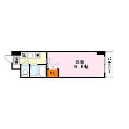 シャンドフルール竹村[1階]の間取り