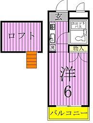 スカイメゾン新松戸[1階]の間取り