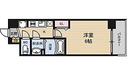 アスヴェル新大阪SOUTH 11階1Kの間取り