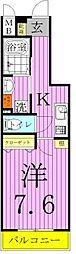 アルテカーサアリビエ東京イースト 5階1Kの間取り