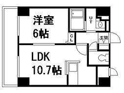 北海道札幌市豊平区豊平一条3丁目の賃貸マンションの間取り