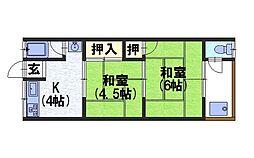小嶋マンション[1階]の間取り