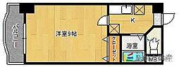 ラフィネ美野島[7階]の間取り