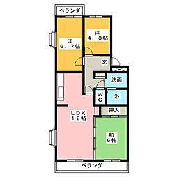 メゾンジョワイエ[4階]の間取り