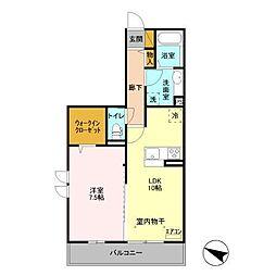 (仮)D-room飯山満町 A[305号室]の間取り