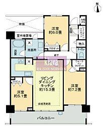 神奈川県横浜市磯子区森4丁目の賃貸マンションの間取り
