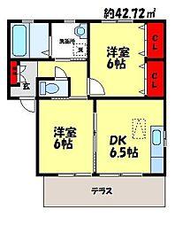 シャーメゾンKIKI[B101号室]の間取り