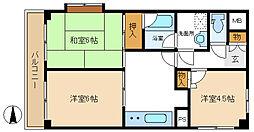 ライオンズマンション梅島[601号室]の外観