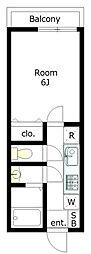 カーサフォレスタ[1階]の間取り
