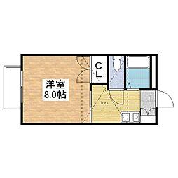 サクセスハイツII[B203号室]の間取り