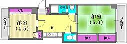 トシヤマンション[5階]の間取り