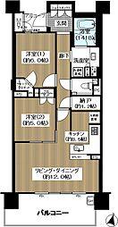 ブランズ桃山台 2階2LDKの間取り
