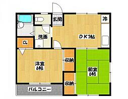 千葉県市川市東菅野5丁目の賃貸アパートの間取り