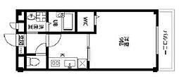 Osaka Metro谷町線 長原駅 徒歩12分の賃貸マンション 1階1Kの間取り