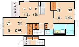 フレール3[2階]の間取り