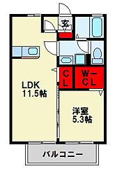 シェルノーブル C棟[2階]の間取り