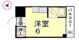 カーサ船岡山[102号室]の間取り