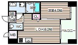 ノルデンハイム梅田東[8階]の間取り