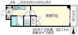 メゾンハウスIII[1階]の間取り